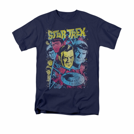 Star Trek Classic Comic Crew T Shirt