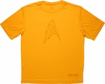 Star Trek Collage Gold Running T Shirt Sheer
