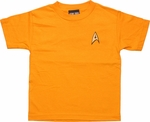 Star Trek Command Gold Juvenile T Shirt