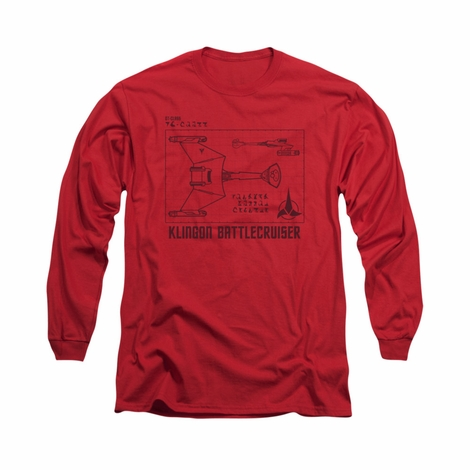 Star Trek D7 Diagram Long Sleeve T Shirt