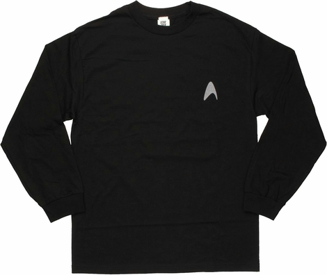Star Trek Darkness Insignia Long Sleeve T Shirt