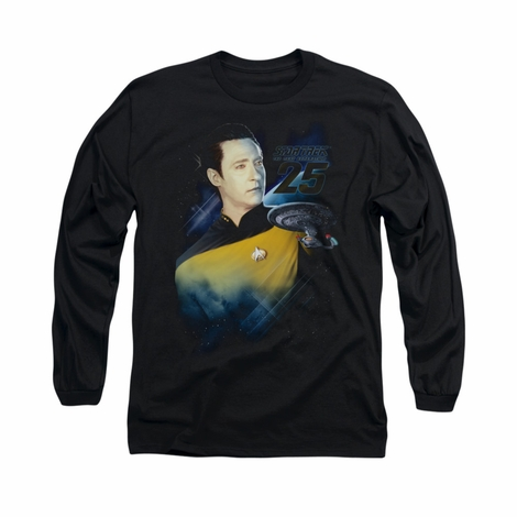Star Trek Data 25th Long Sleeve T Shirt
