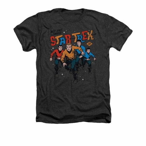 Star Trek Deep Space Thrills Heather T Shirt