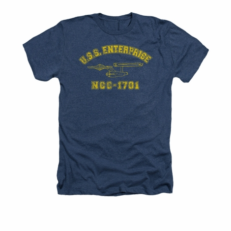 Star Trek Enterprise Athletic Heather T Shirt