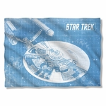 Star Trek Enterprise Blueprint Pillow Case