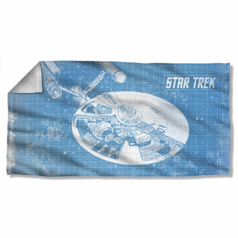 Star Trek Enterprise Blueprint Towel