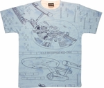Star Trek Enterprise Blueprints Sublimated T Shirt Sheer
