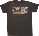 Star Trek Enterprise Color Trail T-Shirt