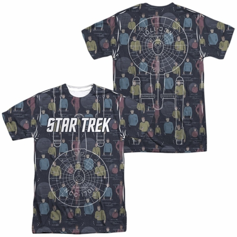 Star Trek Enterprise Crew FB Sublimated T Shirt