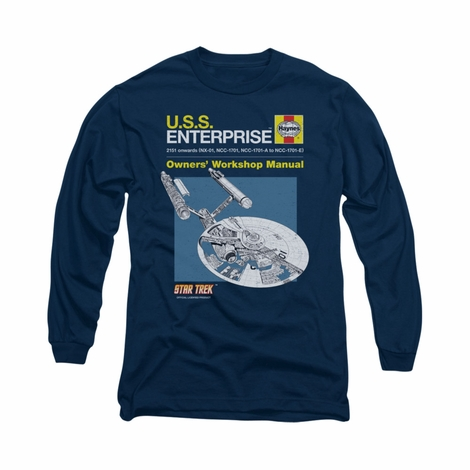 Star Trek Enterprise Manual Long Sleeve T Shirt