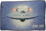 Star Trek Enterprise Warp Sublimated Woven Throw Blanket