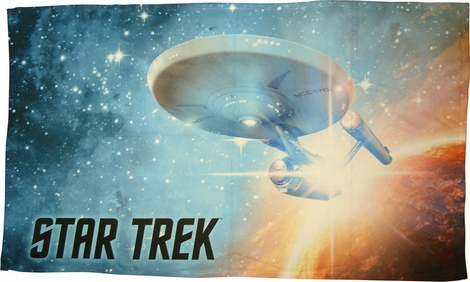 Star Trek Final Frontier Sublimated Fleece Blanket