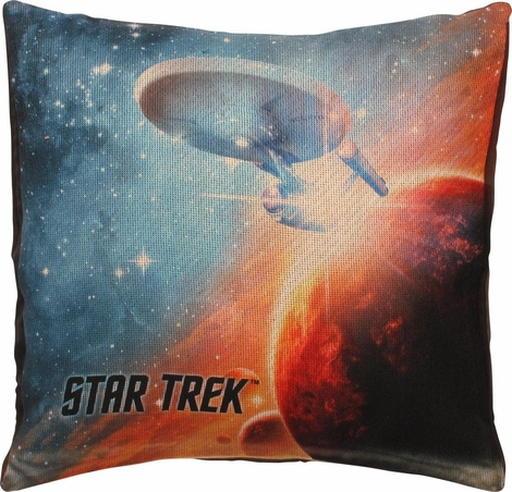 Star Trek Final Frontier Sublimated Throw Pillow