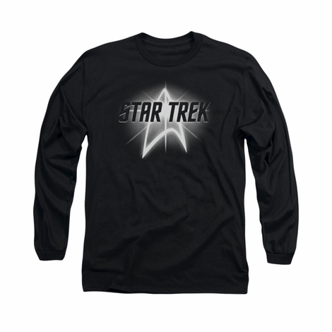 Star Trek Glow Logo Long Sleeve T Shirt