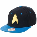 Star Trek Gold Badge Blue Visor Snapback Hat