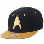 Star Trek Gold Badge Gold Visor Snapback Hat
