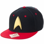 Star Trek Gold Badge Red Visor Snapback Hat
