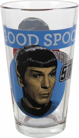 Star Trek Good Evil Spock Pint Glass