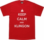 Star Trek Keep Calm and Klingon T Shirt