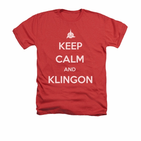 Star Trek Keep Calm Klingon Heather T Shirt