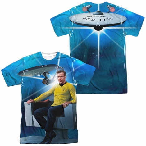 Star Trek Kirk Enterprise FB Sublimated T Shirt