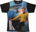 Star Trek Kirk Enterprise Sublimated T Shirt Sheer
