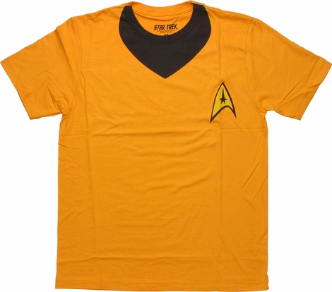 Star Trek Kirk Uniform T Shirt Sheer