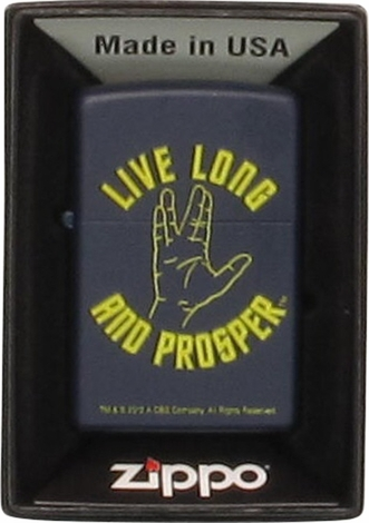 Star Trek Live Long and Prosper Zippo Lighter