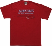 Star Trek Next Generation Vintage Dark Red T Shirt