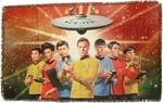 Star Trek Original Crew Sublimated Woven Throw Blanket