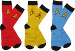 Star Trek OS Mens Crew 3 Pair Socks Set