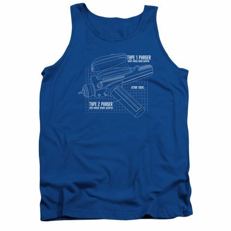 Star Trek Phaser Plans Tank Top