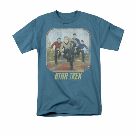 Star Trek Running Cartoon Crew T Shirt