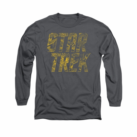 Star Trek Schematic Logo Long Sleeve T Shirt