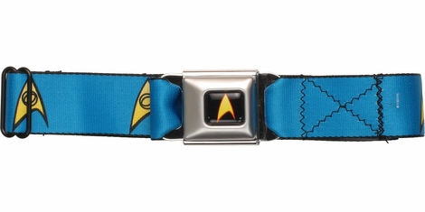 Star Trek Science Officer Logo Seatbelt Mesh Belt