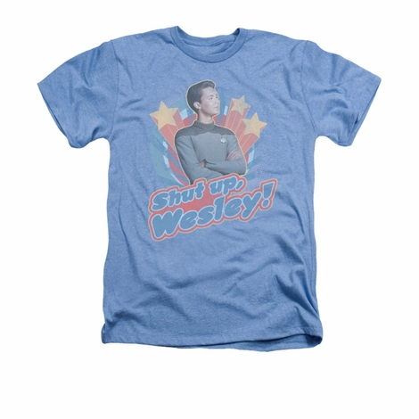 Star Trek Shut Up Wesley Heather T Shirt