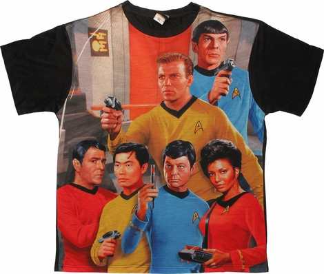Star Trek Six On Bridge BB Sublimated T Shirt