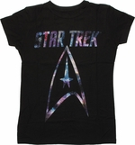 Star Trek Space in Logo Baby Tee