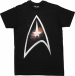 Star Trek Space Logo T Shirt Sheer