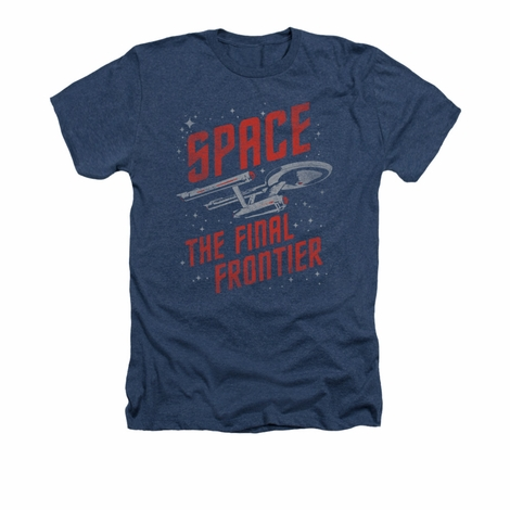 Star Trek Space Travel Heather T Shirt