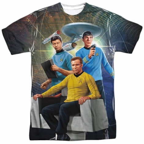 Star Trek Space Trio Sublimated T Shirt