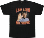 Star Trek Spock Live Long Prosper T Shirt