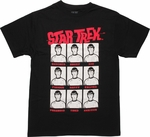 Star Trek Spock Moods Black T Shirt