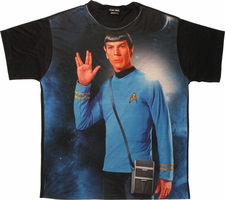 Star Trek Spock Salute Sublimated T Shirt Sheer