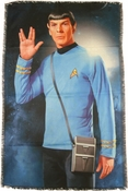 Star Trek Spock Salute Sublimated Woven Throw Blanket