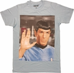 Star Trek Spock Salute T Shirt Sheer