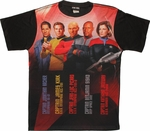 Star Trek Starship Captains Sublimated T Shirt Sheer