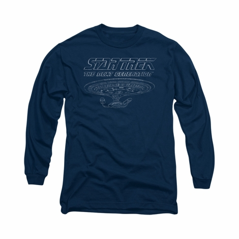 Star Trek TNG Enterprise Long Sleeve T Shirt