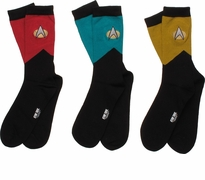 Star Trek TNG Mens Crew 3 Pair Socks Set