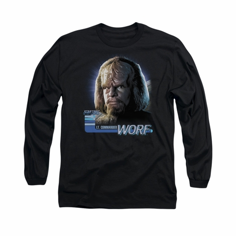 Star Trek TNG Worf Long Sleeve T Shirt